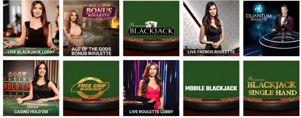 unikrn casino tischspiele