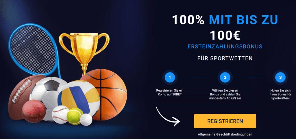 20bet Sports Bonus