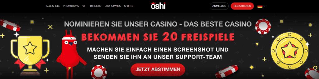 Oshi Casino Aktion