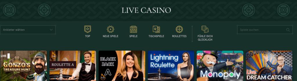Casinia Live Casino