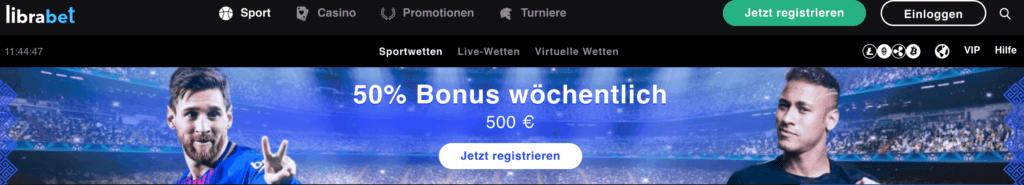 librabet bonus code