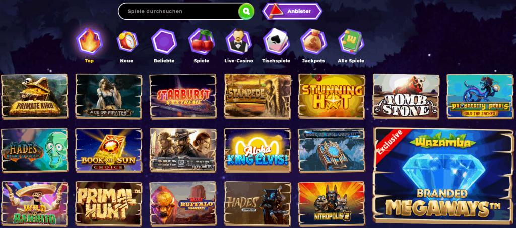 Wazamba Casino Spieleangebot