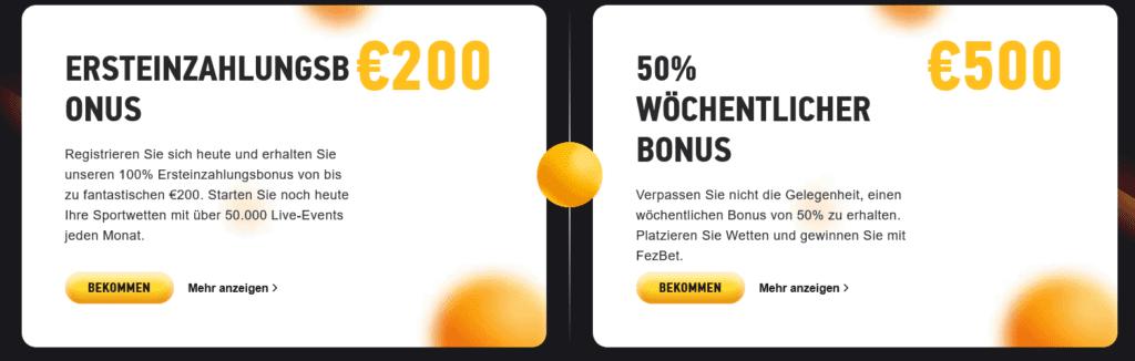 FezBet Bonus Code